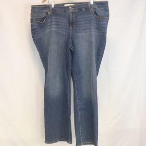 Torrid 24R Women's Jeans Relaxed Boot Blue